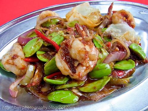 sen lee heong restaurant, sambal petai with prawns R0021200 copy