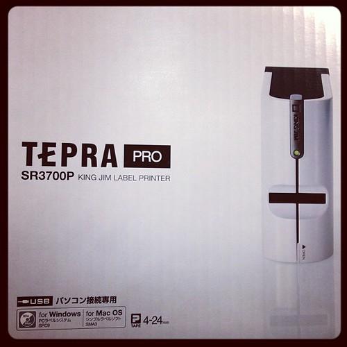 これがテプラPro SR3700P!