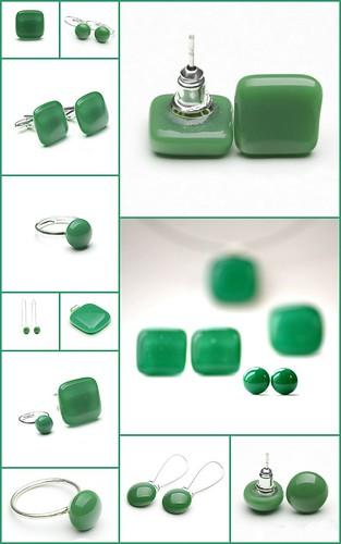 smaragdzöld ékszerkollekció