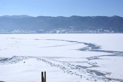 諏訪湖御神渡りの旅2013