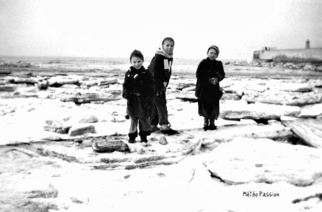 Mer du Nord gelée sur les côtes de Belgique début février 1954 météopassion