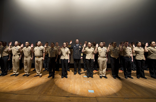 Chief of Naval Operations (CNO) Adm. Jonathan W. Greenert reenlists 31 Sailors