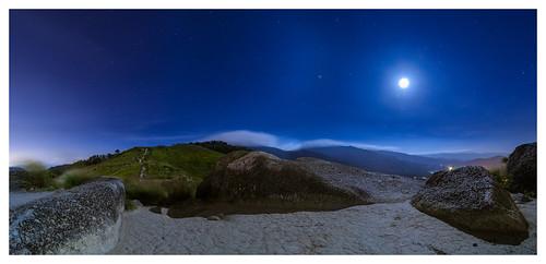 panorama moon landscape nikon hill malaysia midnight moonlight bukit mantin semenyih broga negerisembilan d7000 lensamalaya mhafiz87