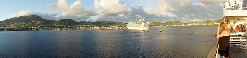 cruise people holiday sunshine port island dock ship sony dream thomson ms caribbean alpha ventura stkitts a77