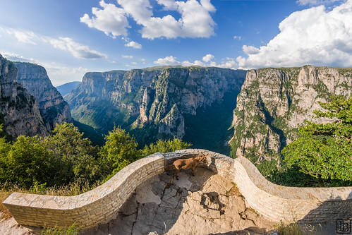 8mm aussicht canyon donkey esel gr greece greek griechenland landscape landschaft oxya viewpoint vikosschlucht balcony fisheye hellas gorge ioannina ipirosditikimakedonia vistapoint