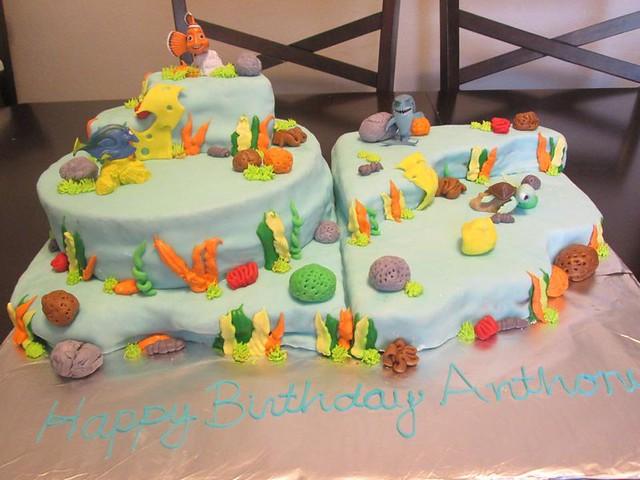 Finding Nemo Themed Cake by Esperanza Zaragoza of Pera's Sweet Treats/ Pera's Postres