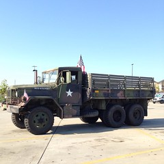 His other vehicle is a troop transport. USA! USA! #usa