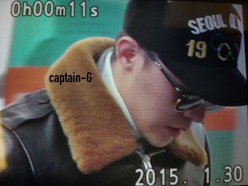 G-Dragon & TOP - Incheon Airport - 30jan2015 - G-Dragon - Captain G - 02