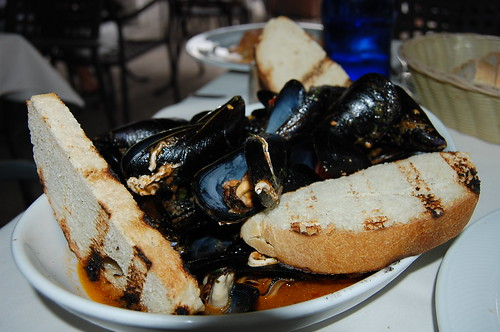Italian lunch mussels seafood