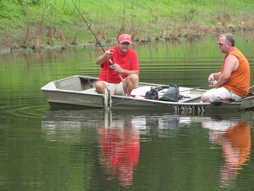 fishing at the pond
