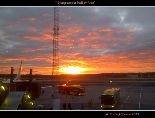 Sunset at Arlanda Airport.