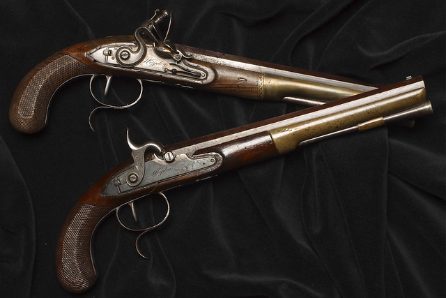 Duelling pistols, as used by Eugene Onegin and Lensky © The New York Historical Society