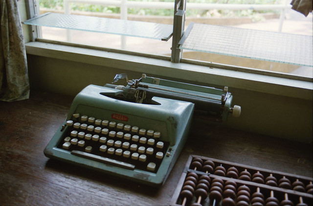Royal Typewriter (and abacus)