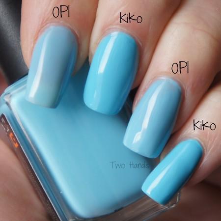 Comparison OPI // Kiko