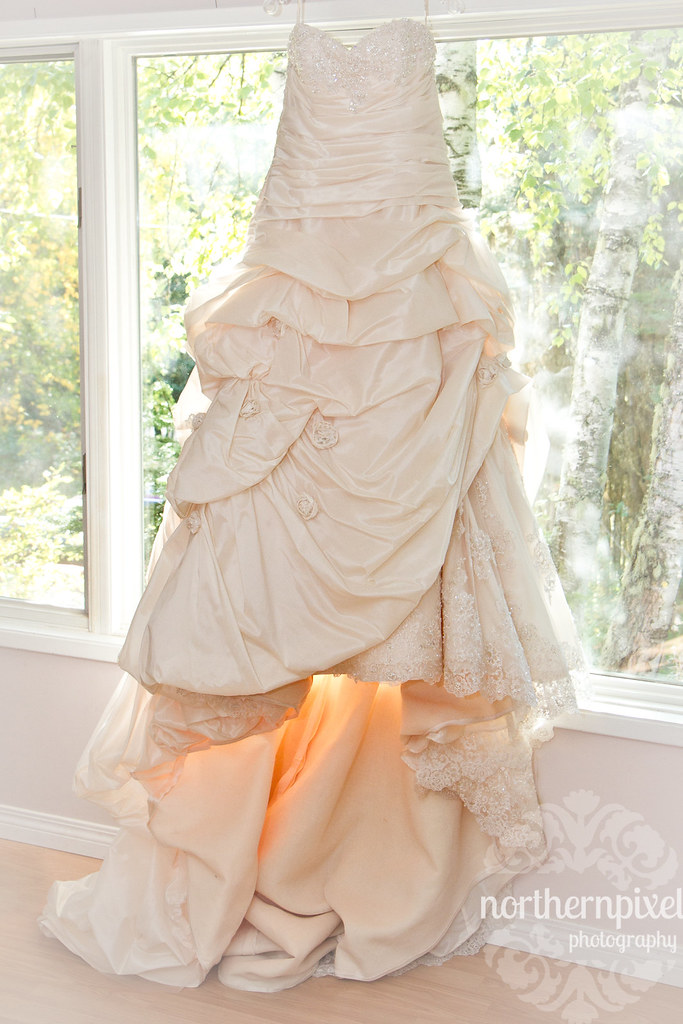 Wedding Dress in the window
