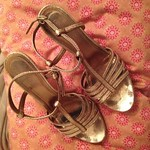 Coach gold sandals from tag sale in Wantagh