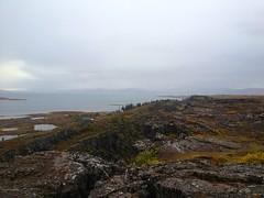 View from atop the AlÞing cliffs, Þingvallir, Ísland