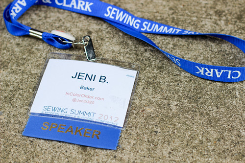 Sewing Summit 2012 by Jeni Baker