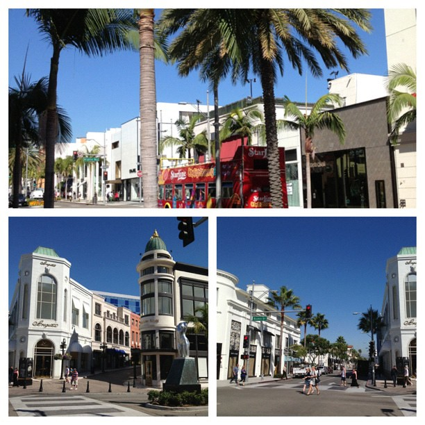 A Rodeo Drive postcard for you all! #ILoveLA #BeverlyHills