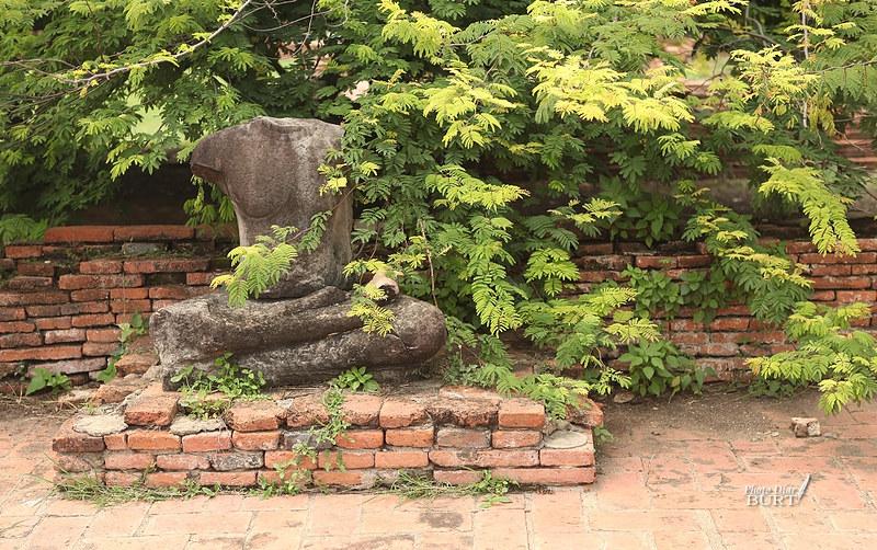 瑪哈泰寺殘存的石刻像