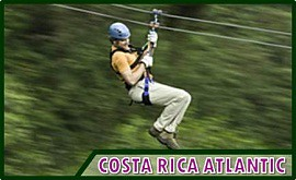 Costa Rica canopy tours and excursions near Limon and San Jose