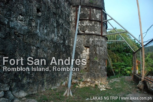 Metal frames made to support the falling structure of Fort San Andres in Romblon island, Romblon