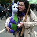 Puffles with Georgina Bavetta of the Green Party