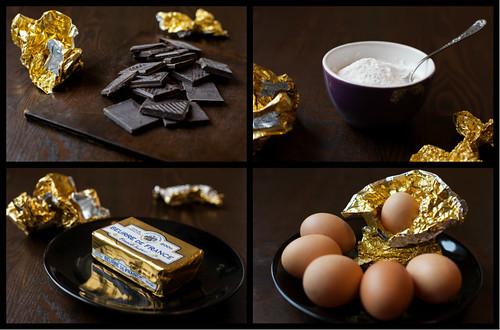 торт захер горький щоколад яйца масло сахарная пудра