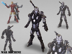 Iron man & War Machine action figures par Brickthing