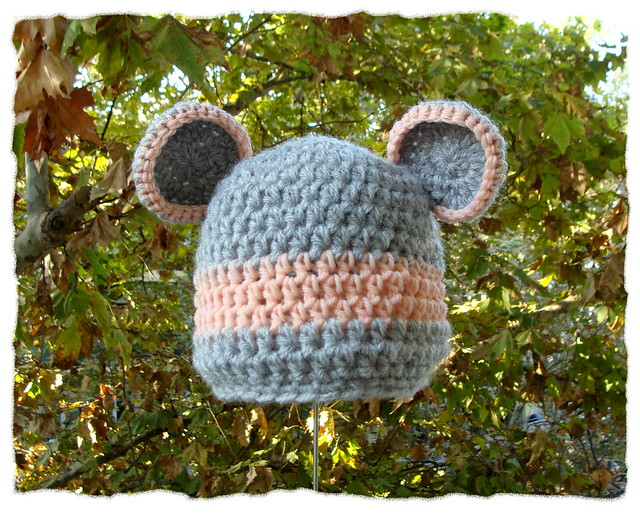 Free Crochet Pattern Baby Beanie With Brim : crochet baby beanie with bear ears Flickr - Photo Sharing!