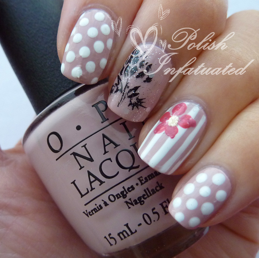 polka dot, stripes and flowers1