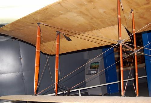 Interplane strut and rigging detail, George Guynemer's SPAD VII, Musee de l'Air et de l'Espace, Le Bourget, Paris.
