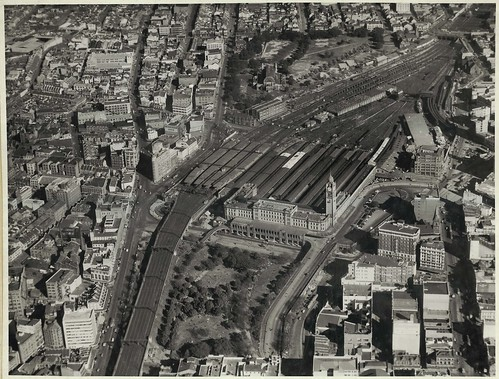 Aerial view of Central Railway Station, Sydney (NSW)