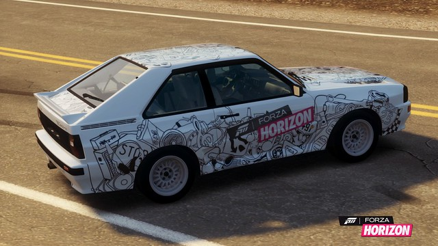 1983 Audi Sport quattro with LCE livery