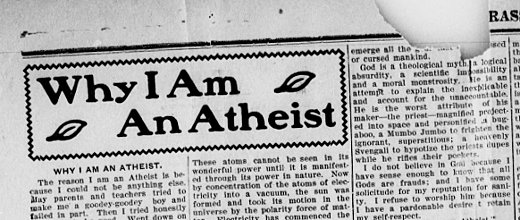 why am i an atheist essay He was a very proud atheist his essay why i am an atheist should be taught in school especially today given our political ecosystem currently.