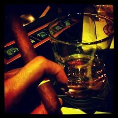 Taking a break from beer...  Cigar, Single Malt and Dark Chocolate.