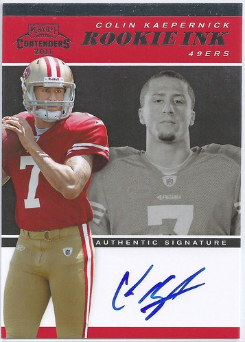 2011 Playoff Contenders Rookie Ink #5 Colin Kaepernick (of 100)