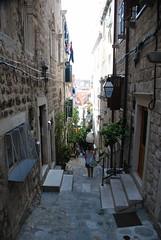 Steile Gasse in Dubrovnik