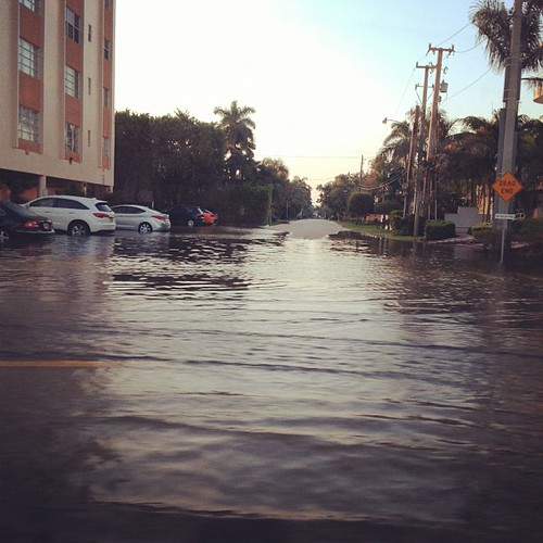 Flooded streets this morning
