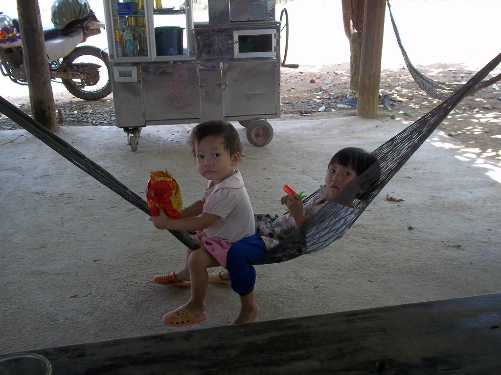 Kids resting in their home near Dalat, Vietnam