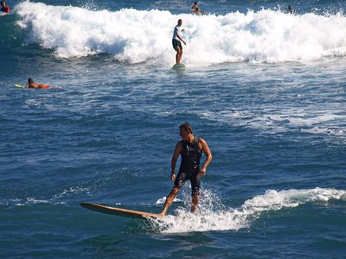 Surfing at PLaya Martianez, Puerto de la Cruz, Tenerife