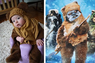 DIY Ewok Halloween costume for baby