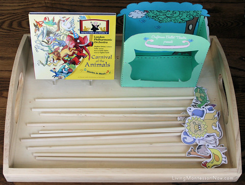 Carnival of the Animals Puppet Theater Tray