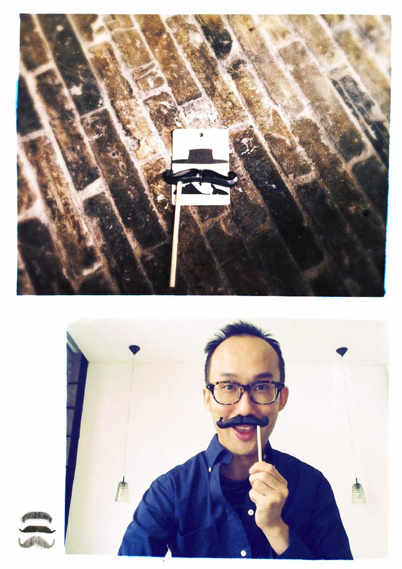 wooden moustache