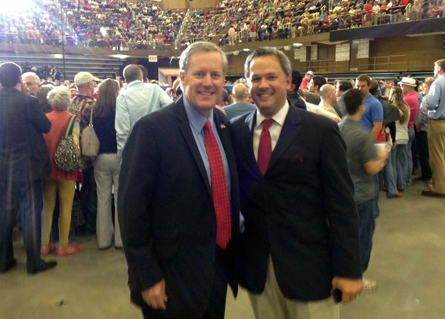 With the next Congressman from NC's 11th CD, Mark Meadows