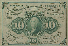 Postage Currency 10cents