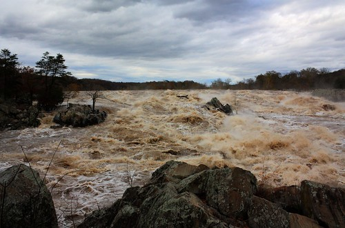 Great Falls Submerged After Hurricane Sandy