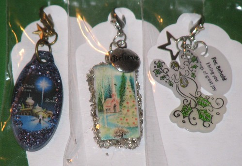 Ink Stains Altered Christmas Charm Swap 013