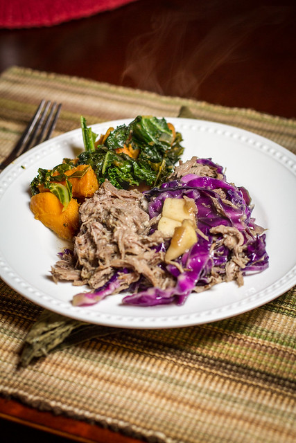 Cider Braised Pork with Cabbage & Onion