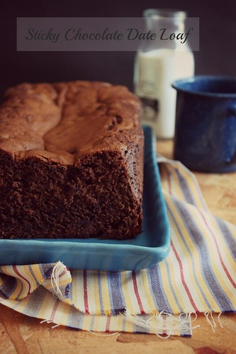 Sticky Chocolate Date Loaf by Fitri D. // Rumah Manis